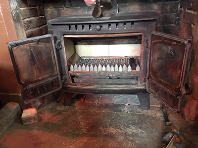 Front of Chimney Stove